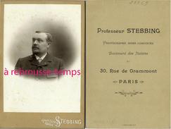 Grand CDV-(CAB) Professeur Stebbing Photographe Hors Concours Bld Des Italiens Et Rue De Grammont-Paris-portrait D'homme - Old (before 1900)