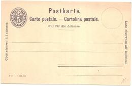 SUISSE  Entier Postal TTBE Neuf - Stamped Stationery