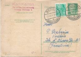 Allemagne Entier Postal Supplémenté - TB(pli Angle) 1956 - DDR