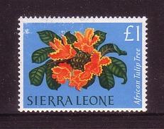344o * SIERRA LEONE * BLUMEN 1963 * DER HÖCHSTE WERT  1 PFUND * POSTFRISCH **!! - Briefmarken