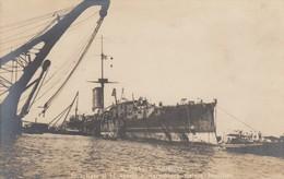 """10932-R. NAVE """"S.GIORGIO"""" INCAGLIATA A MARECHIARO-GAIOLA-POSILLIPO-1911-FP - Guerra"""