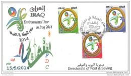 Iraq 2014 Official FDC - Environmental Year - Environment - Irak