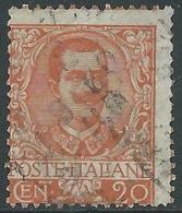 1901 REGNO USATO FLOREALE 20 CENT - R5-7 - Usati