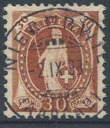 1650 -  30 Rp. Stehende Helvetia Mit Vollstempel NIEDERWIL (AARGAU) 2.IX.93 - 1882-1906 Wappen, Stehende Helvetia & UPU