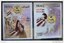 Iraq 2012 MNH - Martyr Day - Map - Flag - Iraq