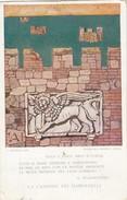 10940-LEGA NAVALE ITALIANA-ILLUSTRATORE RETROSI-LA CANZONE DEI DARDANELLI-D'ANNUNZIO-FP - Barche