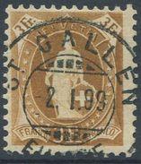 1651 -  3 Fr. Stehende Helvetia Mit Vollstempel ST. GALLEN 2.I.99 - Oblitérés