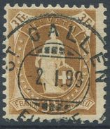1651 -  3 Fr. Stehende Helvetia Mit Vollstempel ST. GALLEN 2.I.99 - 1882-1906 Armoiries, Helvetia Debout & UPU