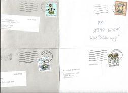 4153j: Österreich 4 Bedarfsbriefe Lt. Scan - 2001-10 Briefe U. Dokumente