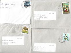 4153k: Österreich 4 Bedarfsbriefe Lt. Scan - 2001-10 Covers