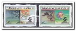Turks & Caicos 1993, Postfris MNH, Trees, Fish - Turks- En Caicoseilanden