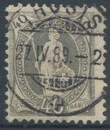 1652 - 40 Rp. Stehende Helvetia Mit Vollstempel THUSIS 27.IV.89 - 1882-1906 Armoiries, Helvetia Debout & UPU
