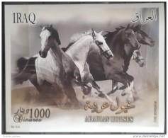 Iraq 2011 MNH - Souvenir Sheet - Arabian Horses - Animals - Fauna - Desert - Irak