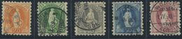 1653 - Stehende Helvetia B-Serie Gestempelt Und Sehr Gut Gezähnt - SBK Katalogwert CHF 2115.00 - 1882-1906 Wappen, Stehende Helvetia & UPU