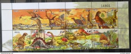 I20 - Iraq 2010 Complete Set 6v. MNH - Dinosaurs Issue, Upper Marginal Part Of The Sheet With The Plate Number - Iraq