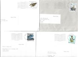 4153n: Österreich 4 Bedarfsbriefe Lt. Scan - 2001-10 Covers