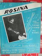 """ADAMO +JEMAPPES:SUPER RARE PART.UNE DES 1ERE CHANSON DE L'ARTISTE  """"ROSINA"""" EDITIONS MUSICALES RUDO 68 R.GENERAL LEMAN - Musik & Instrumente"""