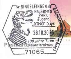 7187 Tyrannosaurus Rex: Oblit. Temp. D'Allemagne, 2006.  T-rex Sp. Cancel. Prehistory Préhistoire Dinosaurus Dinosaure - Postzegels