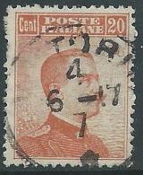1916 REGNO USATO EFFIGIE 20 CENT - R5-9 - Used