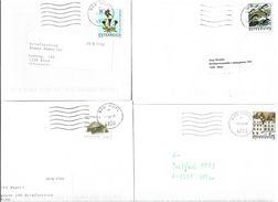 4153q: Österreich 4 Bedarfsbriefe Lt. Scan - 2001-10 Covers