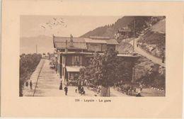 CPA SUISSE VD LEYSIN La Gare Du Chemin De Fer Timbre 1910 - VD Vaud