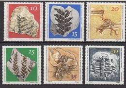 DDR: Museum Für Naturkunde, Berlin: Paläantologische Sammlungen / MiNr. 1822 Bis 1827 - Unused Stamps