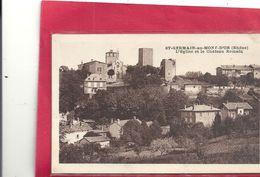 St-GERMAIN-au-MONT-D'OR . L'EGLISE ET LE CHATEAU ROMAIN . ECRITE AU VERSO - Autres Communes