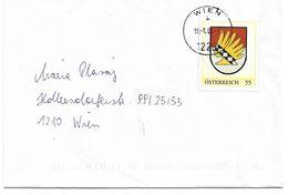 4153v: PM Wappen Essling, Gest. 16.1.07 1228 Wien (Essling!) - Autriche