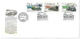 5385 Hungary FDC Transport Railway Station Train Locomotive - Treni