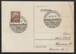 Dt. Reich - 3 PF Hindenburg Auf Drucksache - Mit SST DRESDEN AUSSTELLUNG 19.6.1936 - Reichsgartenschau 1936 - Allemagne