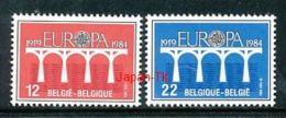 BELGIE Mi.Nr. 2182-2183 EUROPA CEPT Post Und Fernmeldewesen, Brücke 1984 - MNH - Europa-CEPT