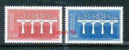 FRANKREICH Mi.Nr. 2441-2442 EUROPA CEPT Post Und Fernmeldewesen, Brücke 1984 - MNH - Europa-CEPT