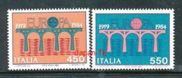 ITALIEN Mi.Nr. 1886-1887 EUROPA CEPT Post Und Fernmeldewesen, Brücke 1984 - MNH - Europa-CEPT