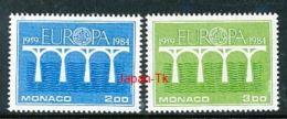 MONACO Mi.Nr. 1622-1623 EUROPA CEPT Post Und Fernmeldewesen, Brücke 1984 - MNH - Europa-CEPT
