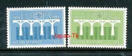 NIEDERLANDE Mi.Nr. 1251-1252 C  EUROPA CEPT Post Und Fernmeldewesen, Brücke 1984 - MNH - Europa-CEPT