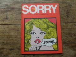 ANC. REVUE / ITALIEN / FUMETTI /  SORRY  N° 1  / ANNO  1° /    SETTEMBRE   1972 - Livres, BD, Revues