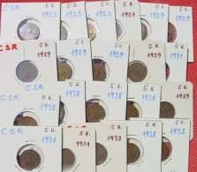 (1048057) Tschechoslowakei, 21 X 5 Heller-Münzen Aus Der Zeit 1923-1938. Siehe Bitte Beschreibung Und Bilder - Tschechoslowakei