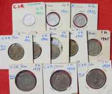 (1048069) Slowakei, 11 Alte Münzen Aus Der Zeit 1939-1942. Siehe Bitte Beschreibung Und Bilder - Slovakia