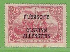 MiNr.13 (x) Falz Deutschland Deutsche Abstimmungsgebiete Allenstein - Duitsland