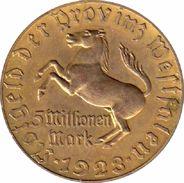 ALEMANIA. WESTFALIA. 5 MILLONES DE MARCOS. 1.923 - [ 3] 1918-1933 : República De Weimar