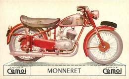 250617 -  CHROMO CHOCOLAT CEMOI - MOTO MONNERET 250 Cc - CYCLE TRANSPORT - Chocolat