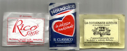 Souvenirs Des Restaurants Des Pouilles (Puglia)  Lecce,Brindisi,Barletta. 3 Sachets Non Ouvert - Zucker