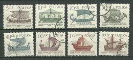 POLAND Oblitéré 1415-1422 Navigation à Voile Voilier Bateau Navire - 1944-.... République