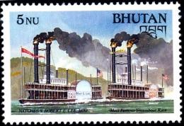 BHUTAN-STEAM BOAT RACE-SCARCE-MLH-H1-393 - Bhután