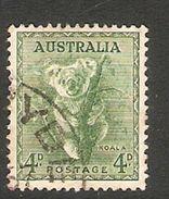 005086 Australia 1956 4d FU No Watermark - 1952-65 Elizabeth II : Pre-Decimals