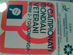 PING PONG CAMPIONATO VETERANI TENNISTAVOLO RIMINI  N1986 GC14547 - Tennis Tavolo