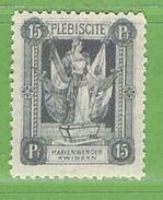 MiNr.32 X (Falz) Deutschland Deutsche Abstimmungsgebiete Marienwerder - Coordination Sectors