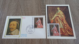 FRANCE CEF Enveloppe Et Carte Maximum 1er Premier Jour ARPHILA 75 CARDINAL DE RICHELIEU 1974 - Timbre Poste - FDC