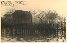 69 - 250617 - PHOTO Novembre 1944 - SAINT FONS - Crue Du Rhône - Rue Du Port Jardins Dans L'eau - France