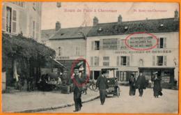 St. REMY-LES-CHEVREUSE  -  ROUTE DE PARIS A CHEVREUSE -  BELLE ANIMATION - CAFE RESTAURANT De La VIERGE -  Emile DELANGE - St.-Rémy-lès-Chevreuse